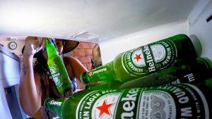 Cervejeira na varanda gourmet