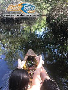 Passeio de canoa no Sagi